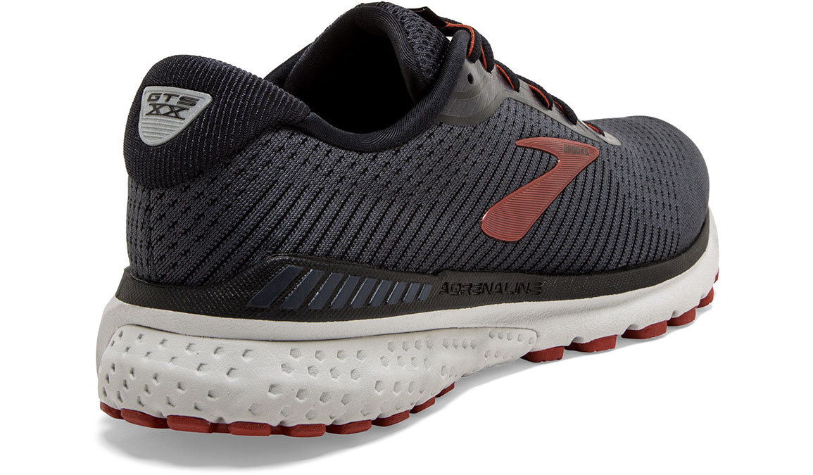 Men's Brooks Adrenaline GTS 20 Running Shoe - Color: Black/Ebony/Ketchup (Regular Width) - Size: 9, Black/Red, large, image 2