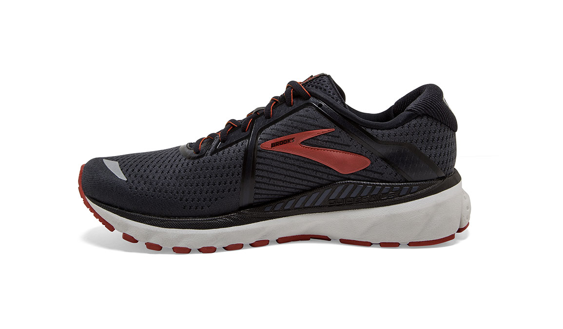 Men's Brooks Adrenaline GTS 20 Running Shoe - Color: Black/Ebony/Ketchup (Regular Width) - Size: 9, Black/Red, large, image 3