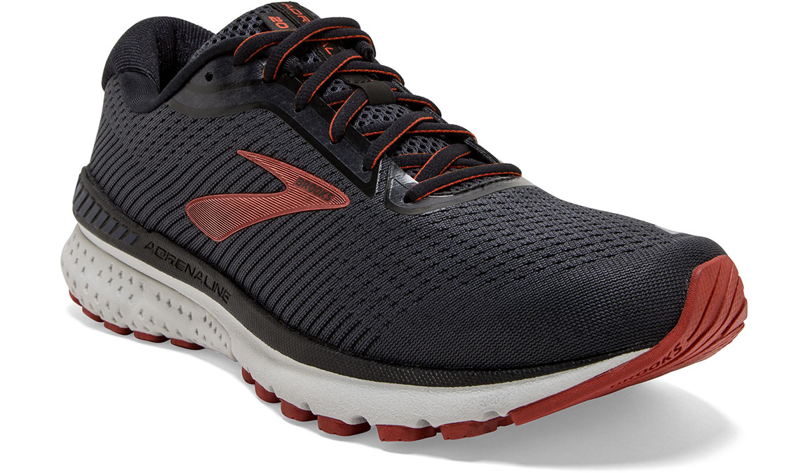 Men's Brooks Adrenaline GTS 20 Running Shoe - Color: Black/Ebony/Ketchup (Regular Width) - Size: 9, Black/Red, large, image 4