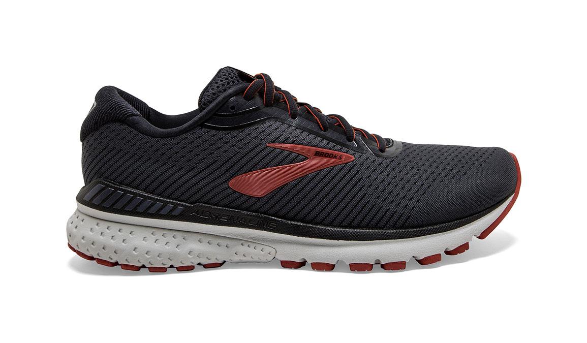 Men's Brooks Adrenaline GTS 20 Running Shoe - Color: Black/Ebony/Ketchup (Regular Width) - Size: 9, Black/Red, large, image 1