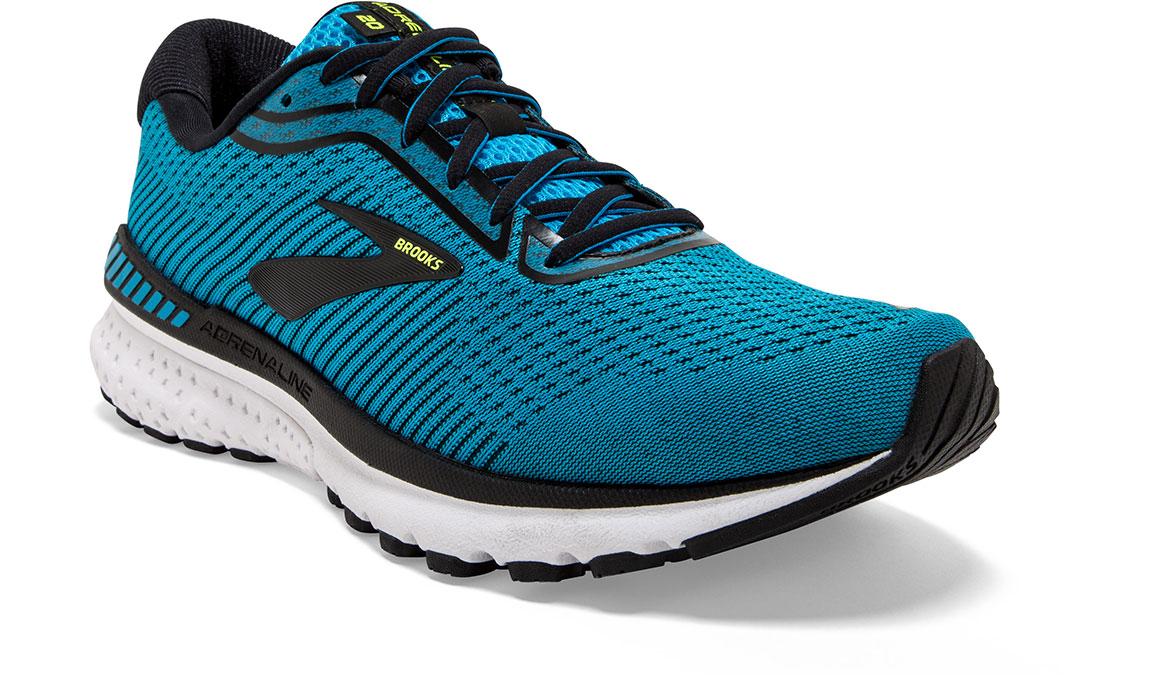 Men's Brooks Adrenaline GTS 20 Running Shoe - Color: Blue/Black/Nightlife (Regular Width) - Size: 10.5, Blue/Black, large, image 3