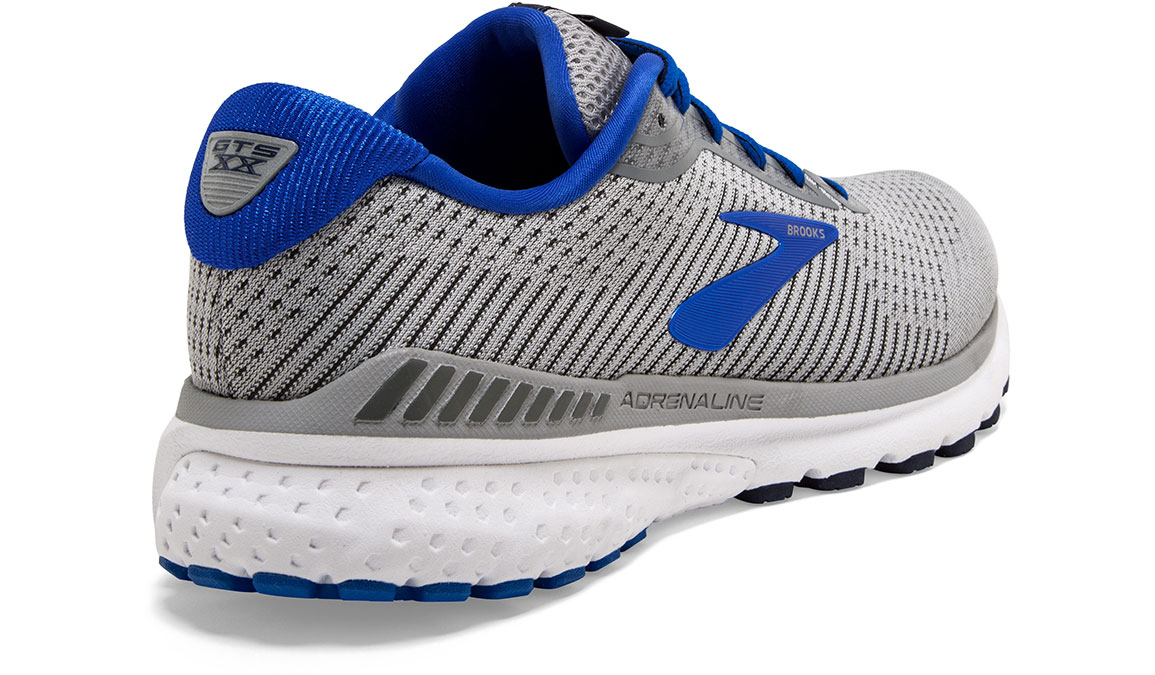 Men's Brooks Adrenaline GTS 20 Running Shoe - Color: Grey/Blue/Navy (Regular Width) - Size: 8, Grey/Blue, large, image 2