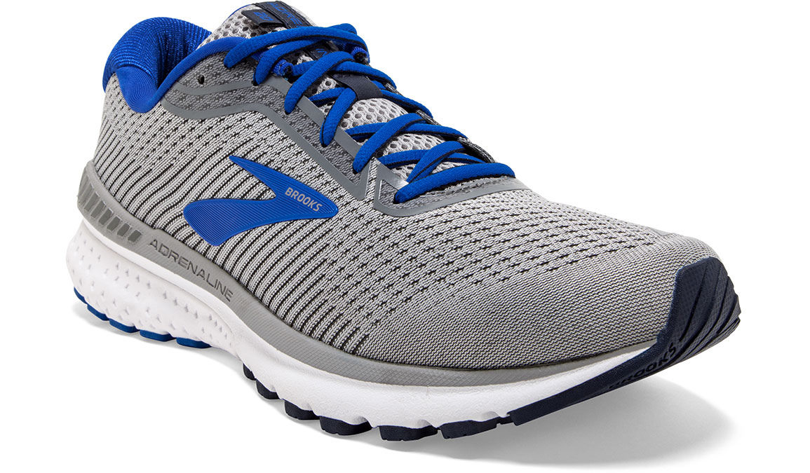 Men's Brooks Adrenaline GTS 20 Running Shoe - Color: Grey/Blue/Navy (Regular Width) - Size: 8, Grey/Blue, large, image 3