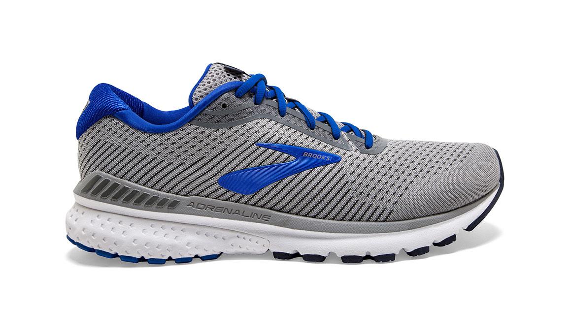 Men's Brooks Adrenaline GTS 20 Running Shoe - Color: Grey/Blue/Navy (Regular Width) - Size: 8, Grey/Blue, large, image 1