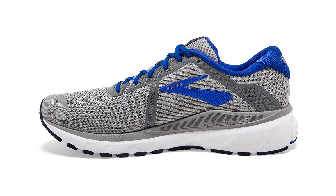 Men's Brooks Adrenaline GTS 20 Running Shoe - Color: Grey/Blue/Navy (Regular Width) - Size: 8, Grey/Blue, large, image 4