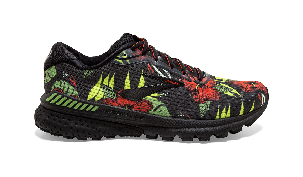 Men's Brooks Adrenaline GTS 20 Tropical Running Shoe - Color: Floral (Regular Width) - Size: 8.5, Floral, large, image 1
