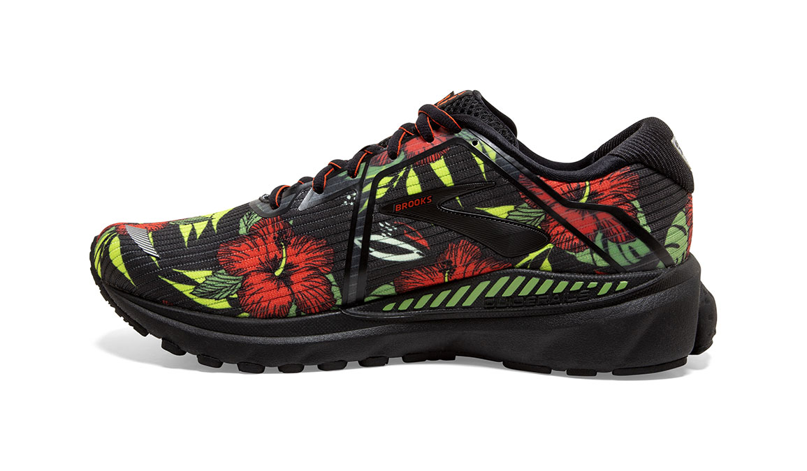 Men's Brooks Adrenaline GTS 20 Tropical Running Shoe - Color: Floral (Regular Width) - Size: 8.5, Floral, large, image 2