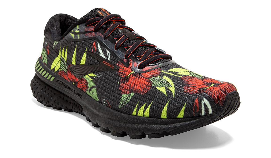 Men's Brooks Adrenaline GTS 20 Tropical Running Shoe - Color: Floral (Regular Width) - Size: 8.5, Floral, large, image 3