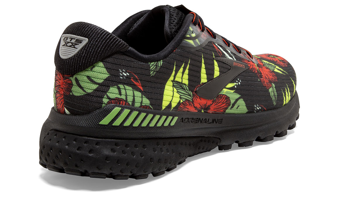 Men's Brooks Adrenaline GTS 20 Tropical Running Shoe - Color: Floral (Regular Width) - Size: 8.5, Floral, large, image 4