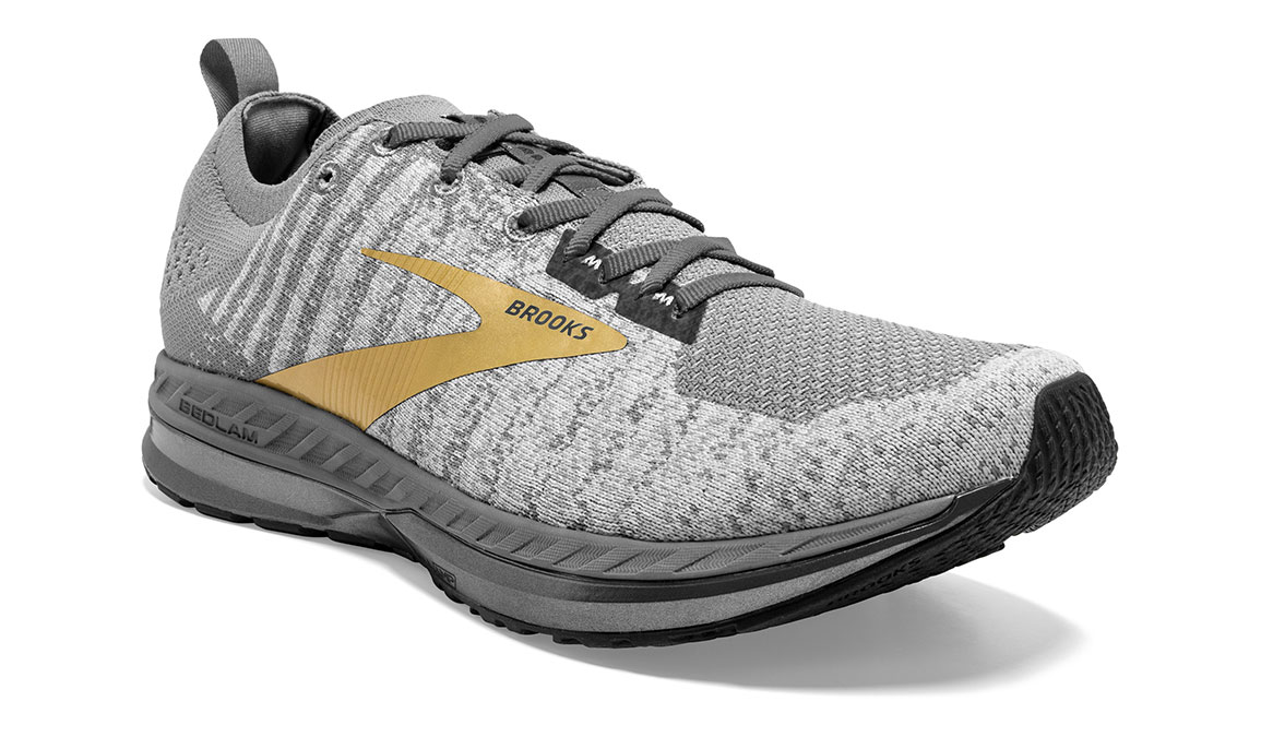 Men's Brooks Bedlam 2 Running Shoe - Color: Grey/White/Gold (Regular Width) - Size: 11.5, Grey/Gold, large, image 2