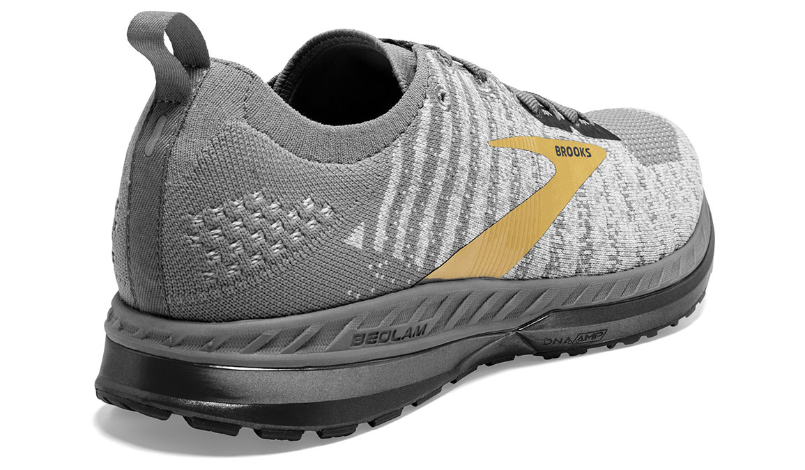 Men's Brooks Bedlam 2 Running Shoe - Color: Grey/White/Gold (Regular Width) - Size: 11.5, Grey/Gold, large, image 3