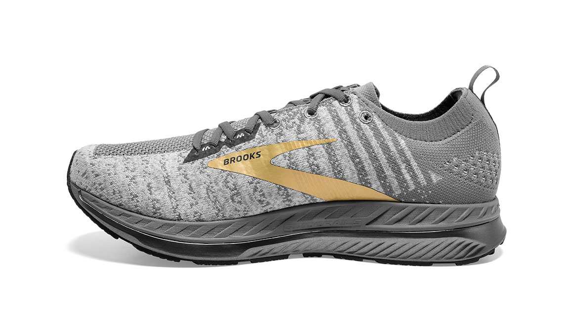 Men's Brooks Bedlam 2 Running Shoe - Color: Grey/White/Gold (Regular Width) - Size: 11.5, Grey/Gold, large, image 4