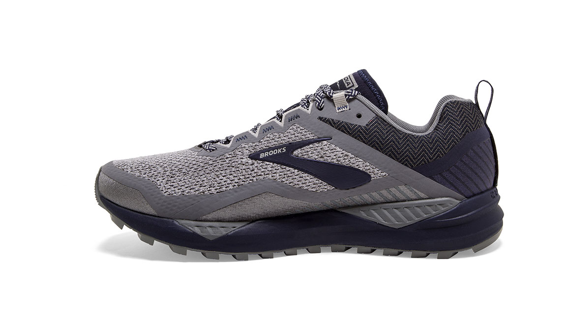 Men's Brooks Cascadia 14 Trail Running Shoe - Color: Grey/Navy (Regular Width) - Size: 9, Grey/Navy, large, image 3