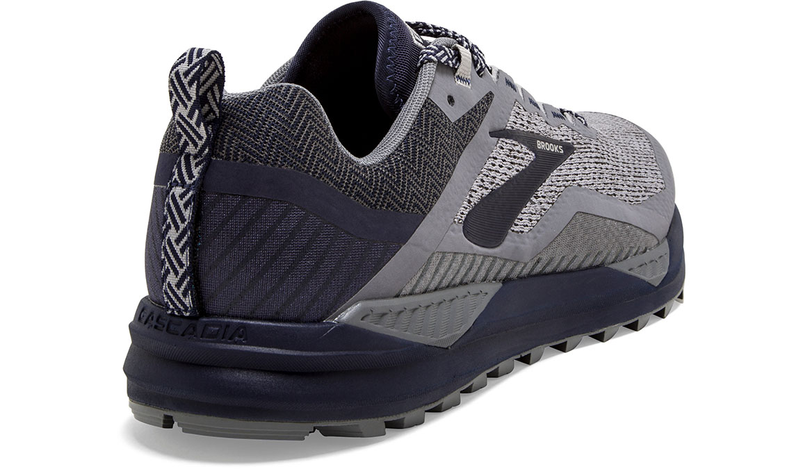 Men's Brooks Cascadia 14 Trail Running Shoe - Color: Grey/Navy (Regular Width) - Size: 9, Grey/Navy, large, image 4