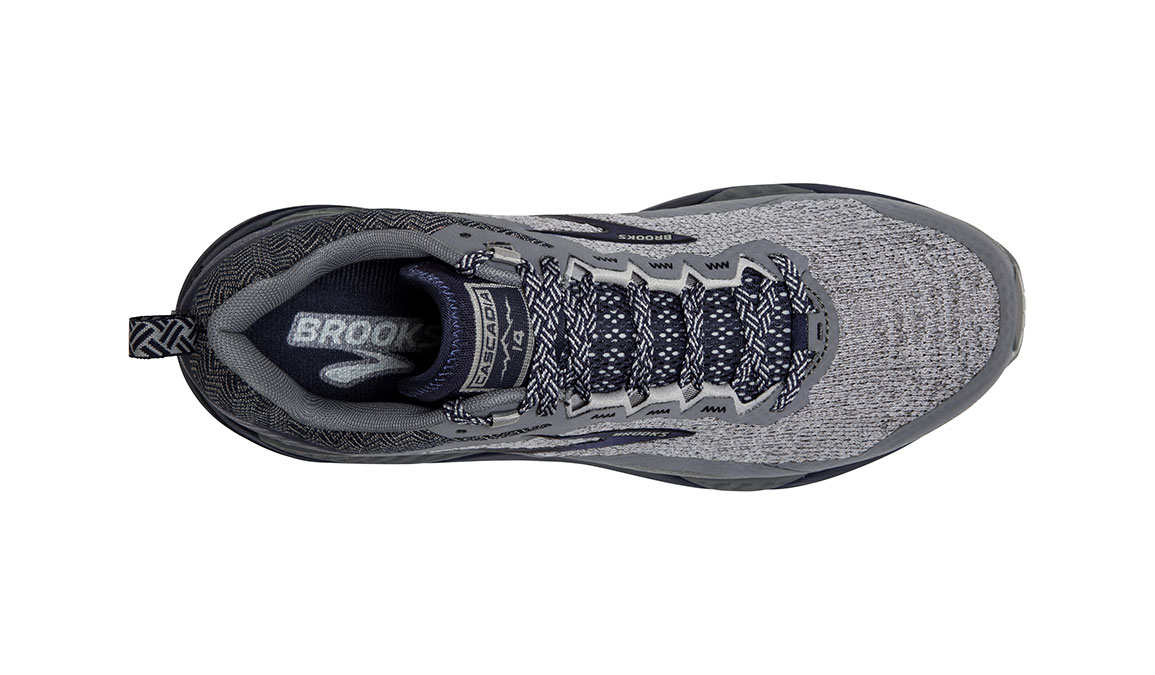Men's Brooks Cascadia 14 Trail Running Shoe - Color: Grey/Navy (Regular Width) - Size: 9, Grey/Navy, large, image 5
