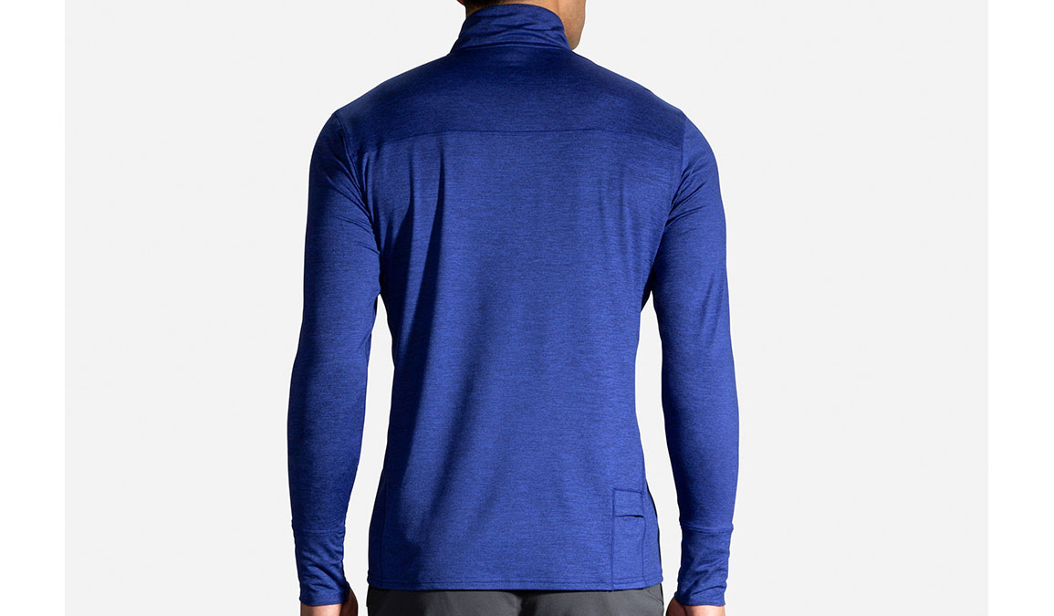 Men's Brooks Dash 1/2 Zip - Color: Heather Cobalt/Navy Size: S, Heather Navy, large, image 3