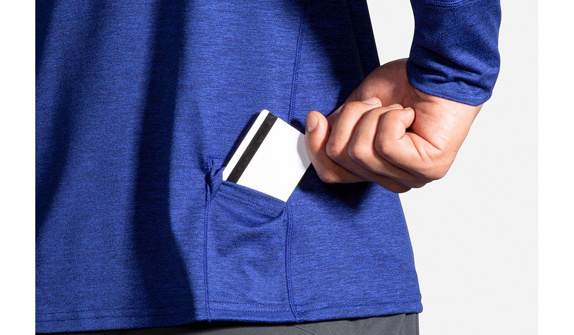 Men's Brooks Dash 1/2 Zip - Color: Heather Cobalt/Navy Size: S, Heather Navy, large, image 4