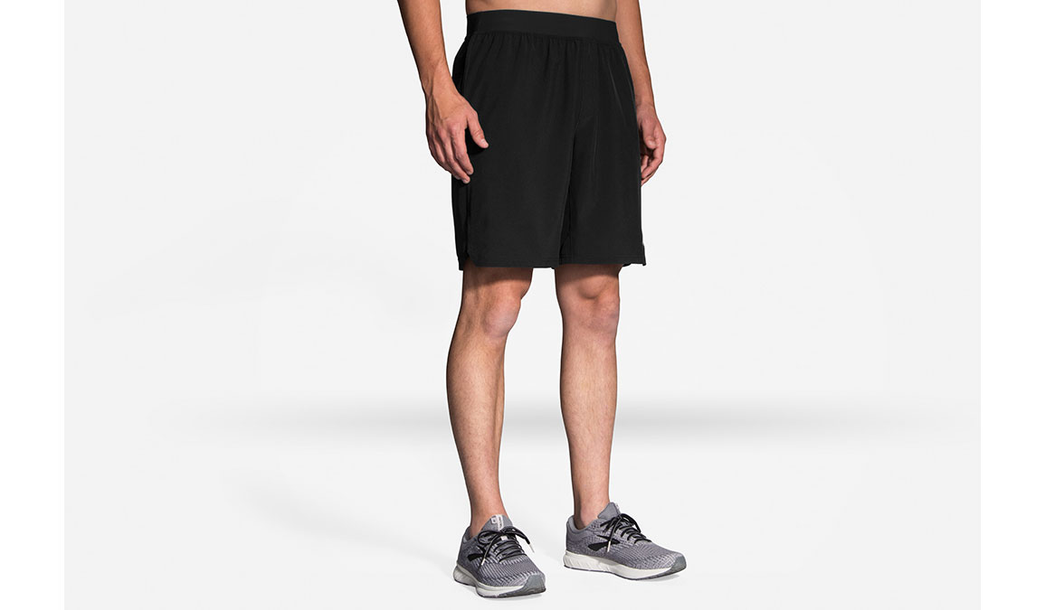 "Men's Brooks Equip 9"" Shorts - Color: Black Size: S, Black, large, image 1"