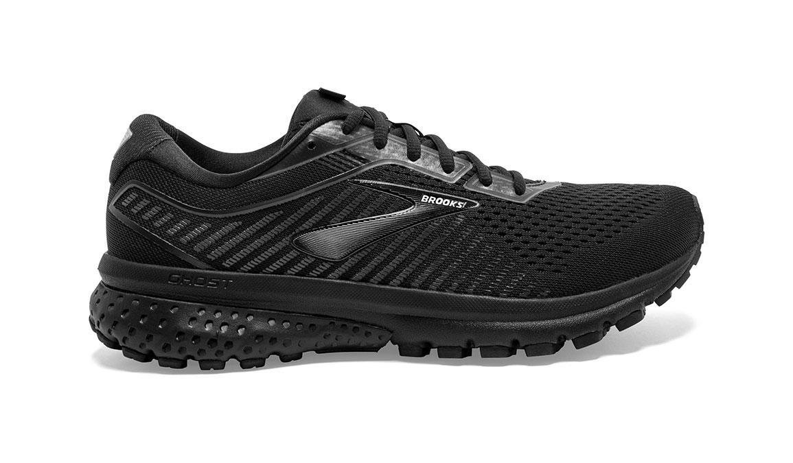 Men's Brooks Ghost 12 Running Shoe - Color: Black/Black (Regular Width) - Size: 9, Black, large, image 1