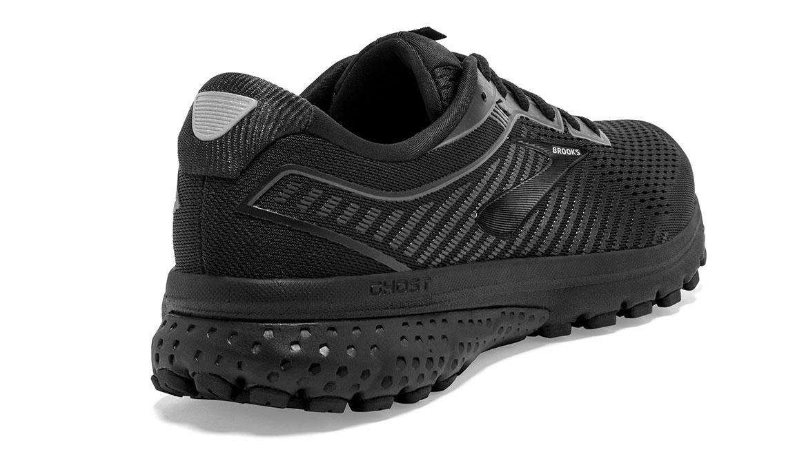 Men's Brooks Ghost 12 Running Shoe - Color: Black/Black (Regular Width) - Size: 9, Black, large, image 2