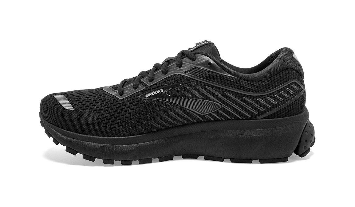 Men's Brooks Ghost 12 Running Shoe - Color: Black/Black (Regular Width) - Size: 9, Black, large, image 3