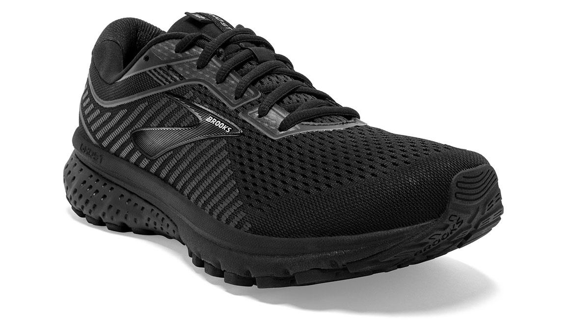 Men's Brooks Ghost 12 Running Shoe - Color: Black/Black (Regular Width) - Size: 9, Black, large, image 4
