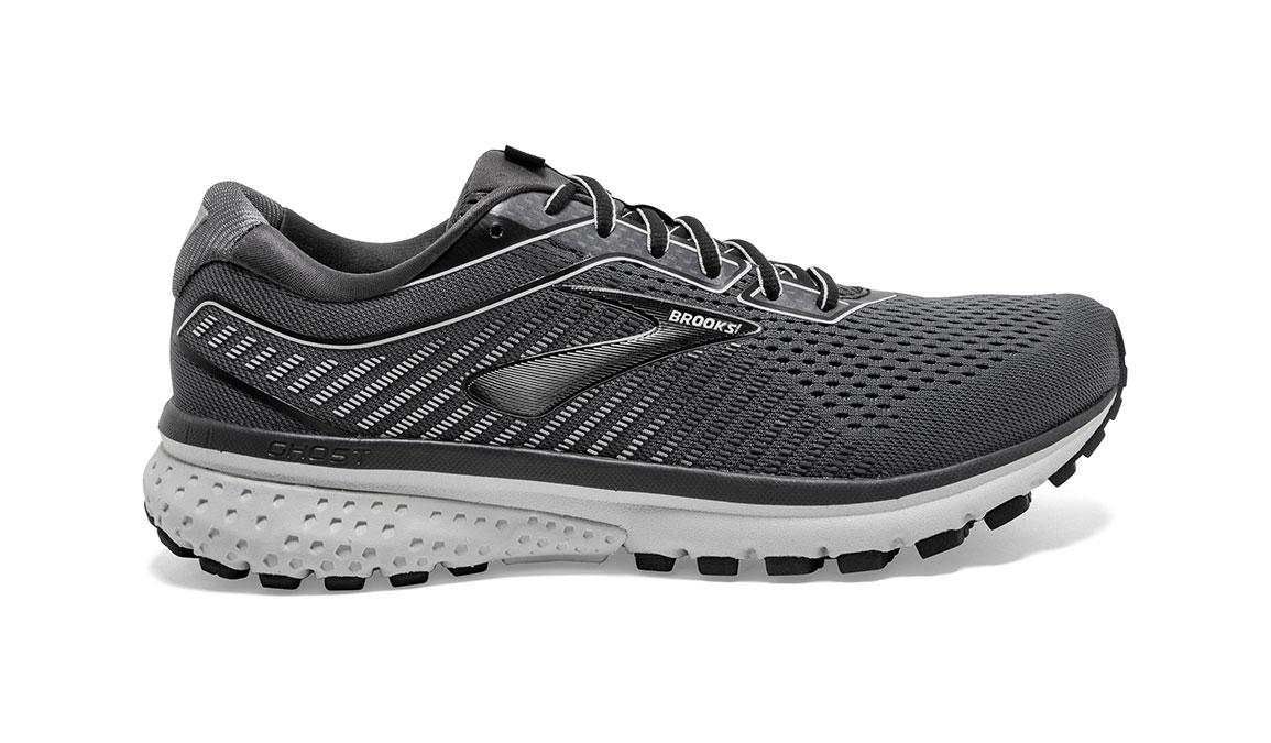 Men's Brooks Ghost 12 Running Shoe - Color: Black/Pearl/Oyster (Regular Width) - Size: 8, Black/Grey, large, image 1