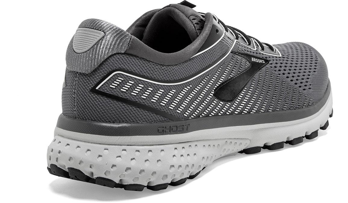 Men's Brooks Ghost 12 Running Shoe - Color: Black/Pearl/Oyster (Regular Width) - Size: 8, Black/Grey, large, image 2