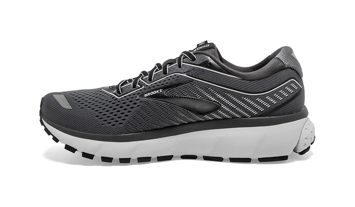 Men's Brooks Ghost 12 Running Shoe - Color: Black/Pearl/Oyster (Regular Width) - Size: 8, Black/Grey, large, image 3