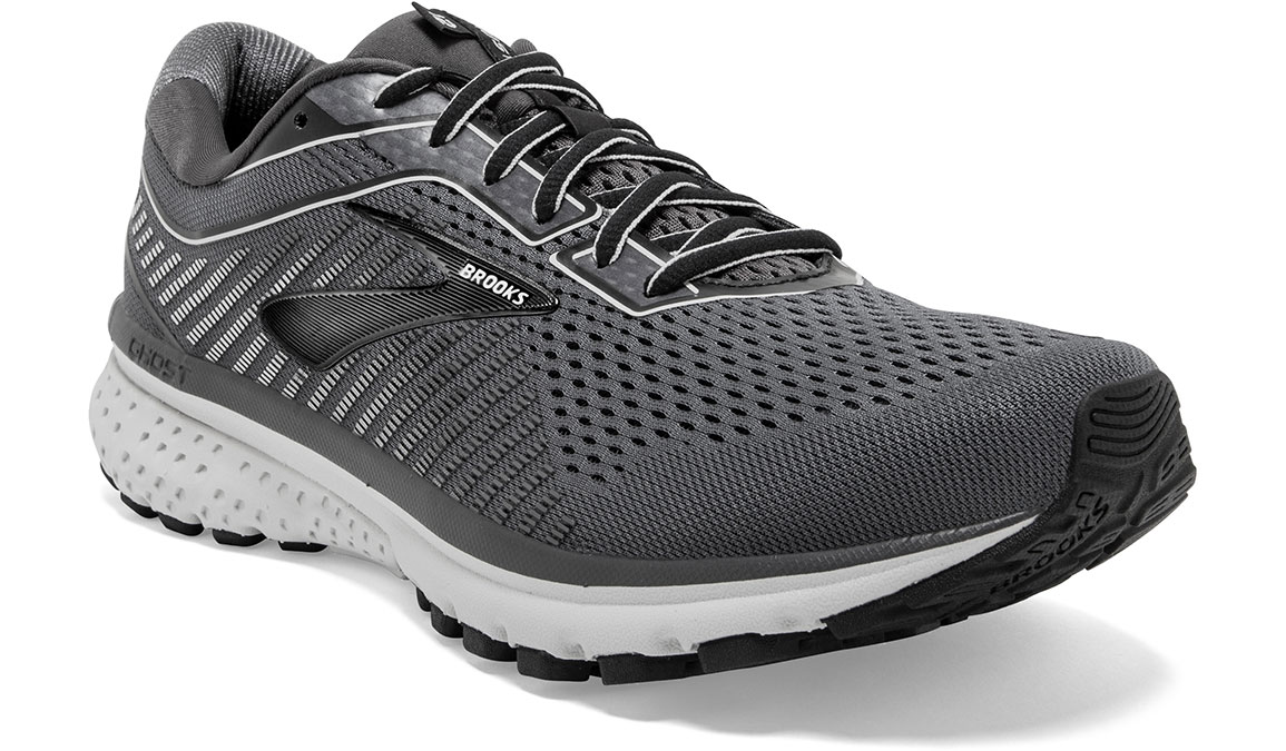 Men's Brooks Ghost 12 Running Shoe - Color: Black/Pearl/Oyster (Regular Width) - Size: 8, Black/Grey, large, image 4