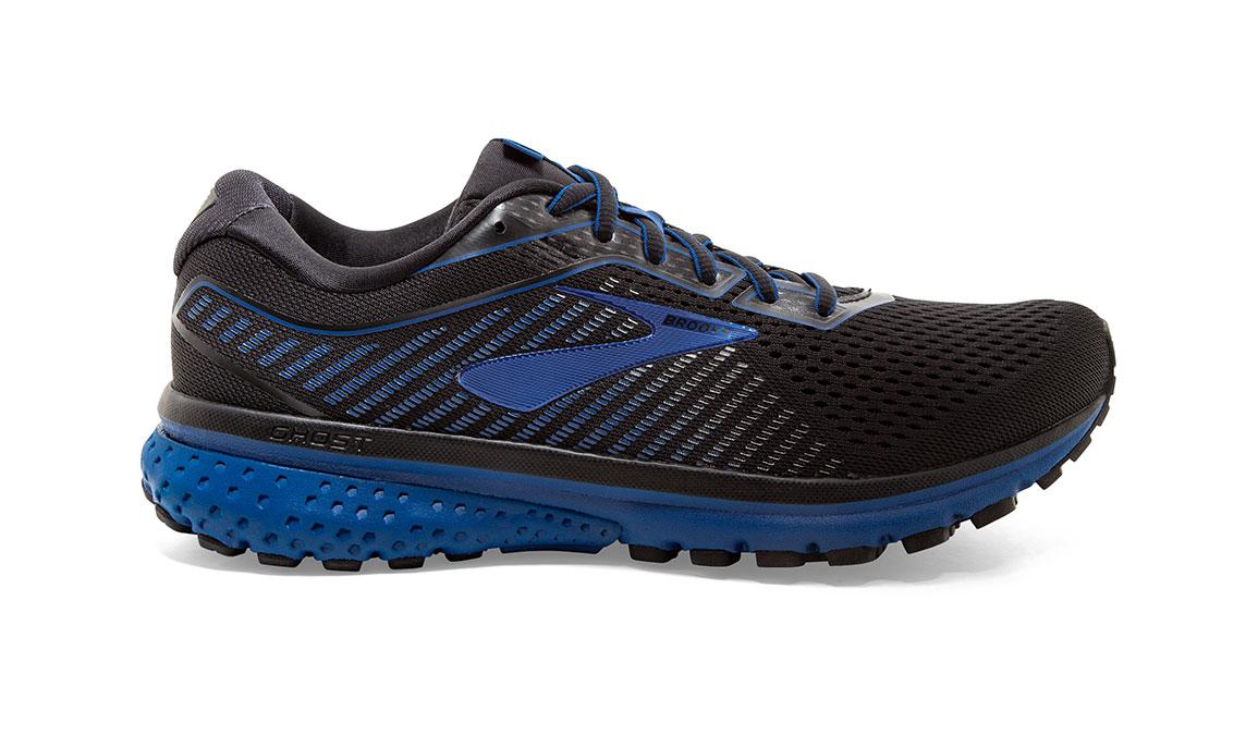 Men's Brooks Ghost 12 Running Shoe - Color: Black/True Blue (Regular Width) - Size: 8, Black/Blue, large, image 1