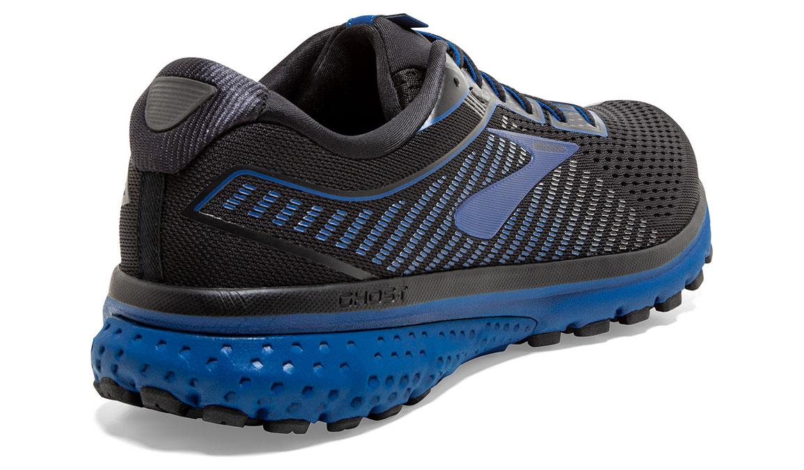 Men's Brooks Ghost 12 Running Shoe - Color: Black/True Blue (Regular Width) - Size: 8, Black/Blue, large, image 2