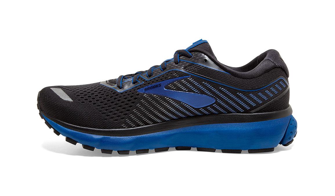 Men's Brooks Ghost 12 Running Shoe - Color: Black/True Blue (Regular Width) - Size: 8, Black/Blue, large, image 3