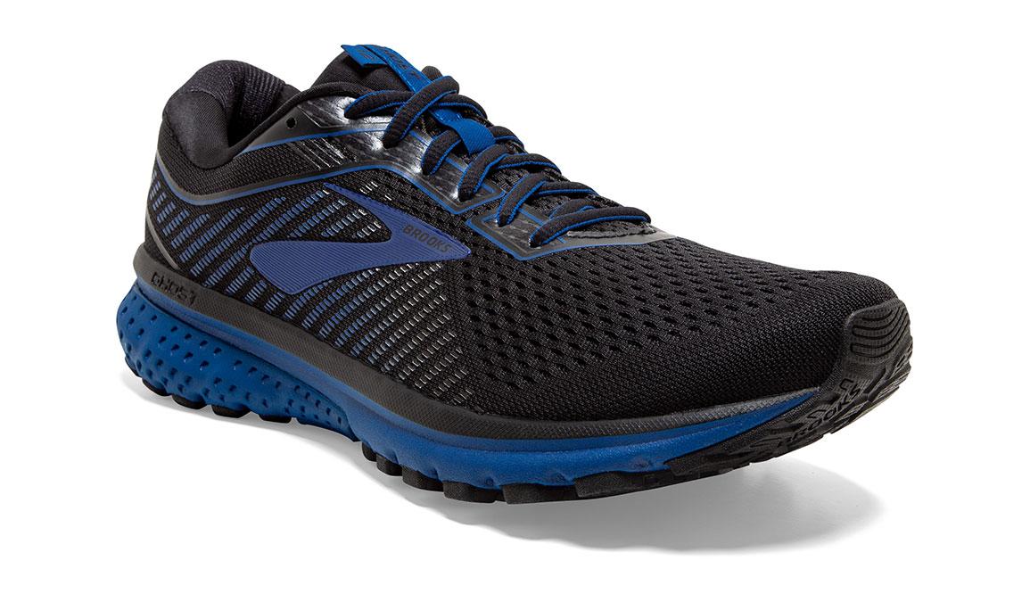 Men's Brooks Ghost 12 Running Shoe - Color: Black/True Blue (Regular Width) - Size: 8, Black/Blue, large, image 4