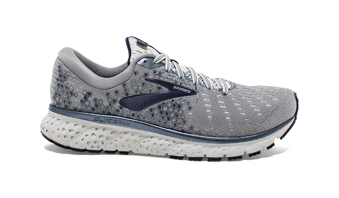 Men's Brooks Glycerin 17 Running Shoe - Color: Grey/Navy/White (Regular Width) - Size: 8.5, Grey/White, large, image 1