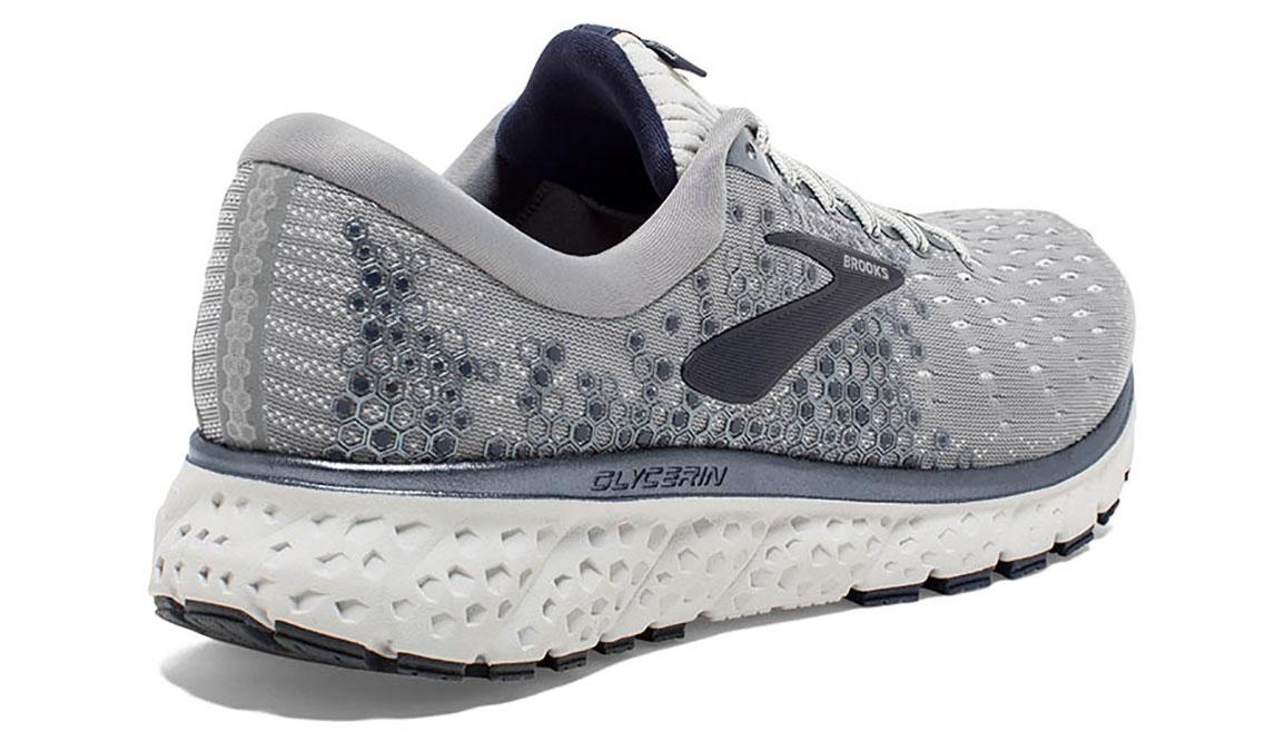 Men's Brooks Glycerin 17 Running Shoe - Color: Grey/Navy/White (Regular Width) - Size: 8.5, Grey/White, large, image 3