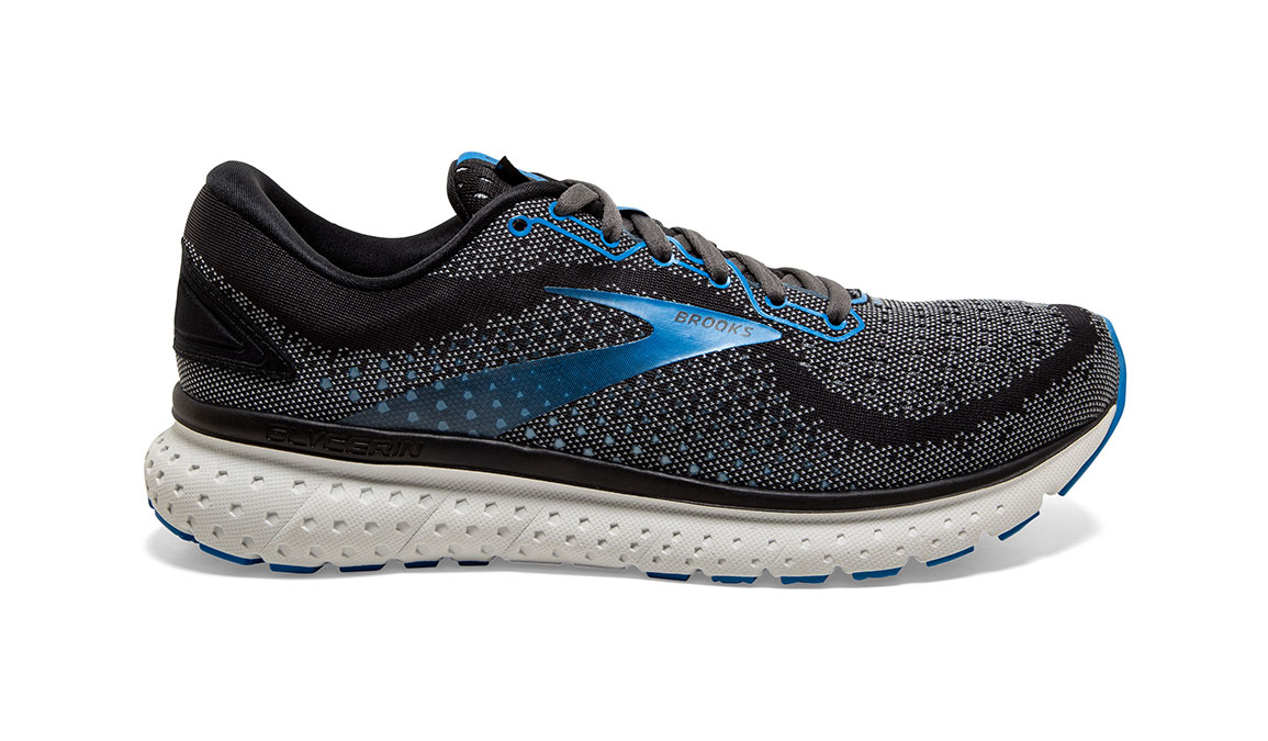 Men's Brooks Glycerin 18 Running Shoe - Color: Black/Blue (Regular Width) - Size: 8.5, Black/Blue, large, image 1
