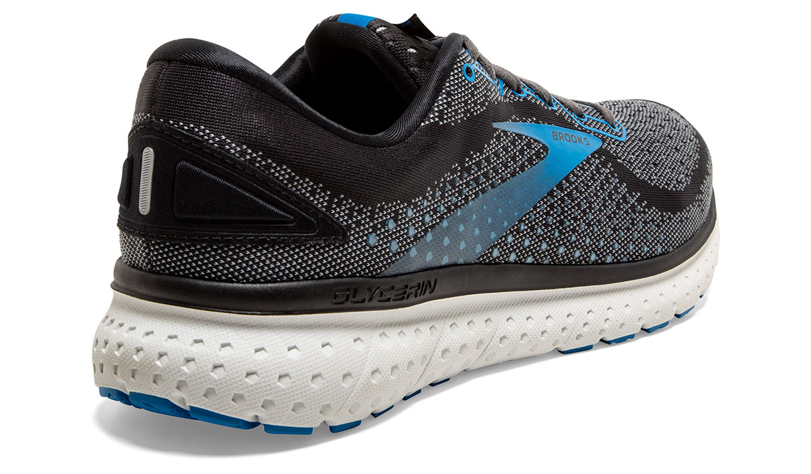 Men's Brooks Glycerin 18 Running Shoe - Color: Black/Blue (Regular Width) - Size: 8.5, Black/Blue, large, image 3