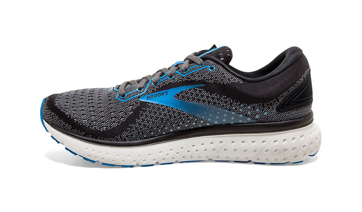 Men's Brooks Glycerin 18 Running Shoe - Color: Black/Blue (Regular Width) - Size: 8.5, Black/Blue, large, image 4