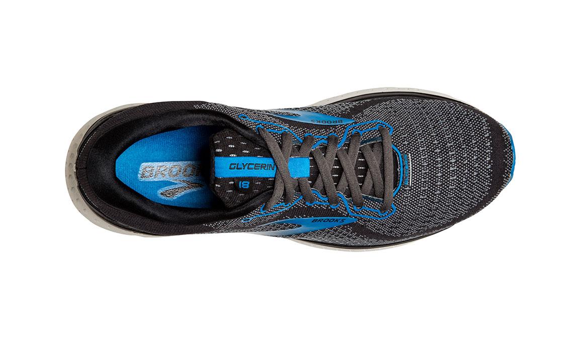 Men's Brooks Glycerin 18 Running Shoe - Color: Black/Blue (Regular Width) - Size: 8.5, Black/Blue, large, image 5