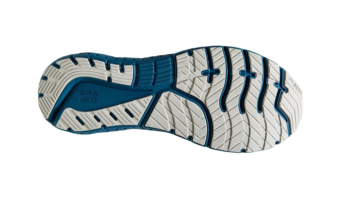 Men's Brooks Glycerin 18 Running Shoe - Color: White/Grey/Poseidon (Regular Width) - Size: 10, White/Blue, large, image 6