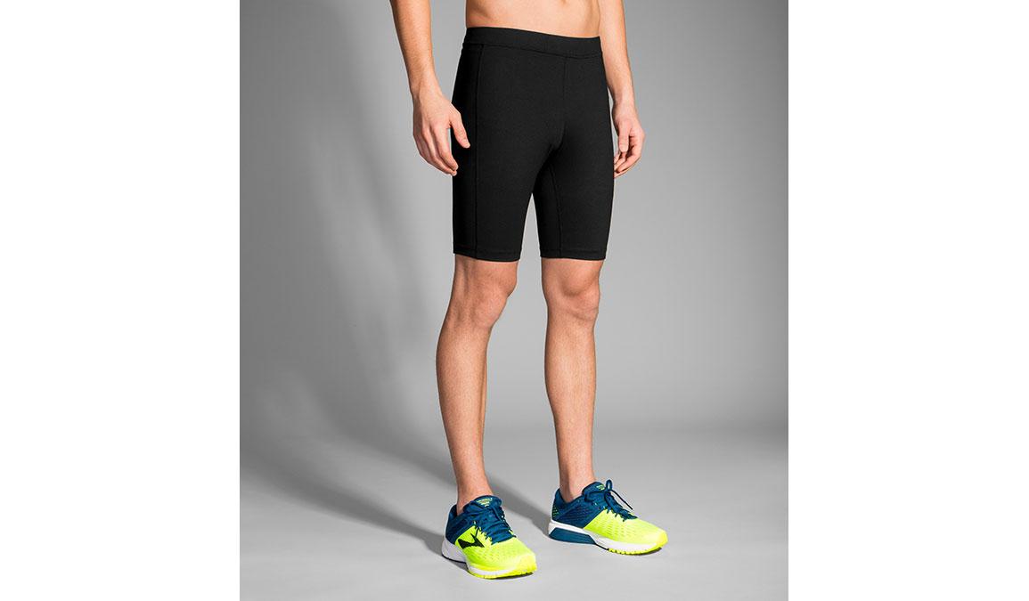 "Men's Brooks Greenlight 9"" Short Tight - Color: Black Size: S, Black, large, image 1"