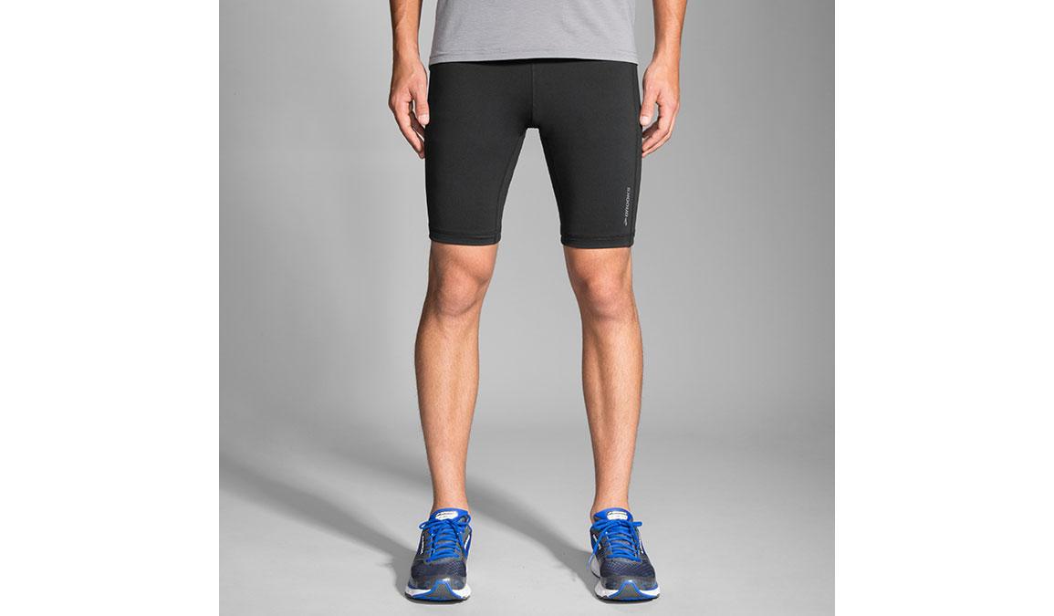 "Men's Brooks Greenlight 9"" Short Tight - Color: Black Size: S, Black, large, image 2"