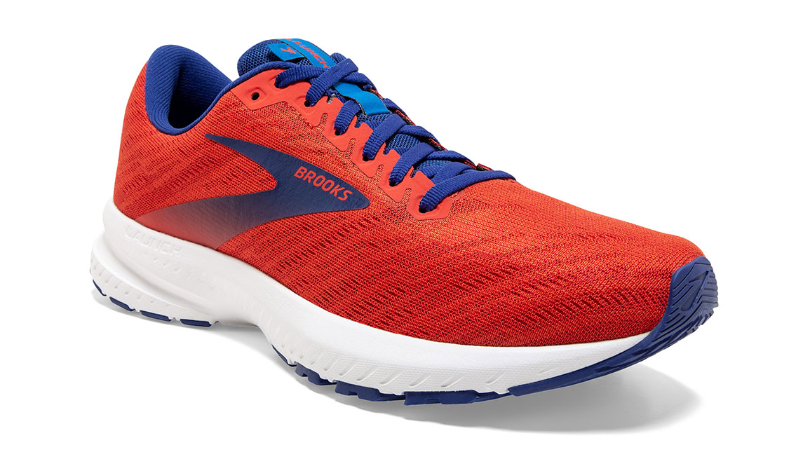 Men's Brooks Launch 7 Running Shoe - Color: Cherry/Red (Regular Width) - Size: 8.5, Cherry, large, image 3