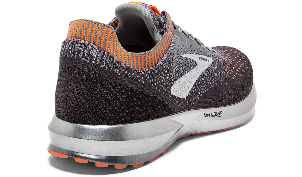 Men's Brooks Levitate 2 Running Shoe - Color: Grey/Black/Orange (Regular Width) - Size: 8, Grey/Black, large, image 3