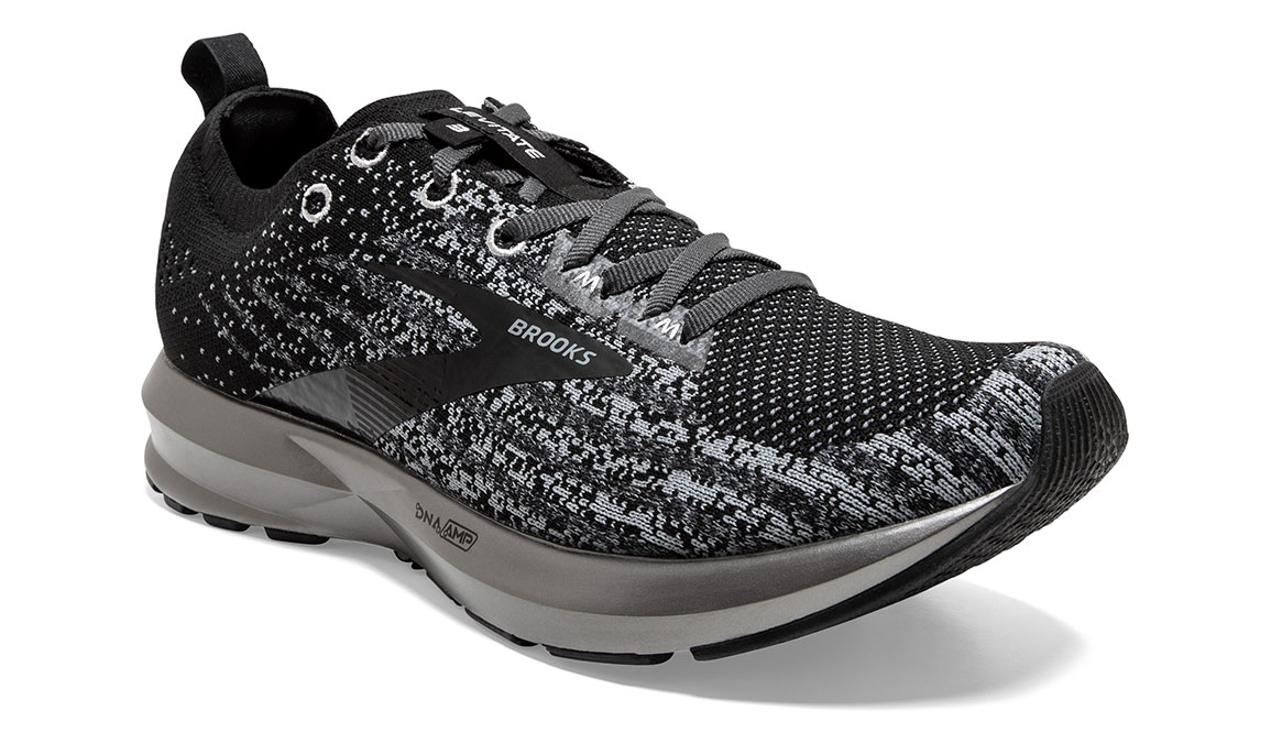 Men's Brooks Levitate 3 Running Shoe - Color: Black/Ebony/Silver (Regular Width) - Size: 8.5, Black/Silver, large, image 2