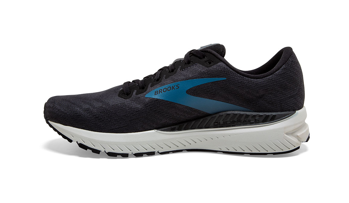 Men's Brooks Ravenna 11 Running Shoe - Color: Ebony/Stellar (Wide Width) - Size: 7, Black/Blue, large, image 2