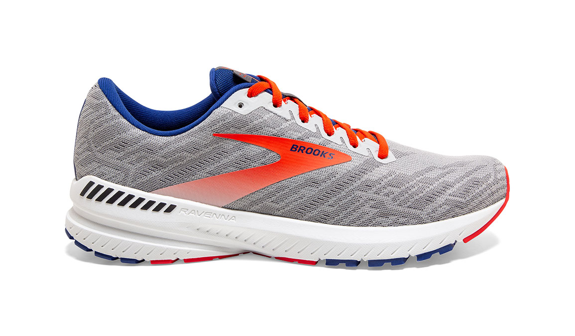 Men's Brooks Ravenna 11 Running Shoe - Color: Grey/Cherry (Regular Width) - Size: 9, Grey/Red, large, image 1
