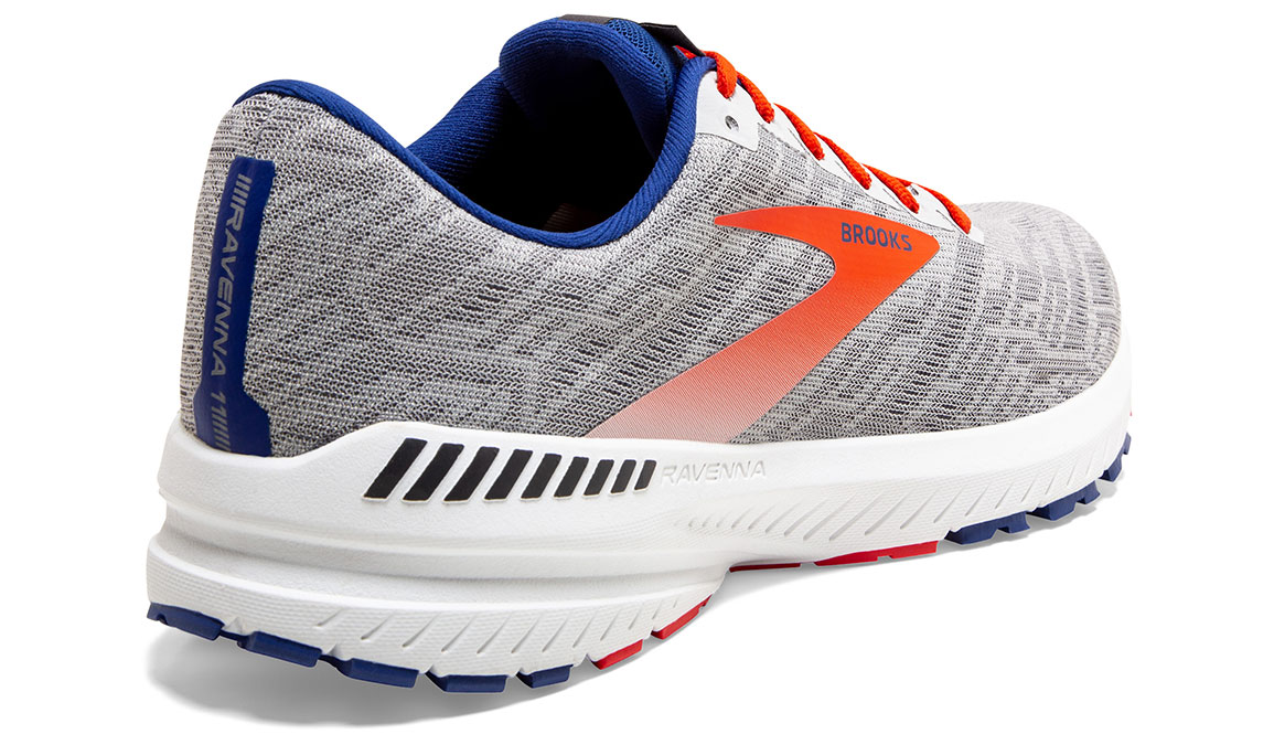 Men's Brooks Ravenna 11 Running Shoe - Color: Grey/Cherry (Regular Width) - Size: 9, Grey/Red, large, image 4