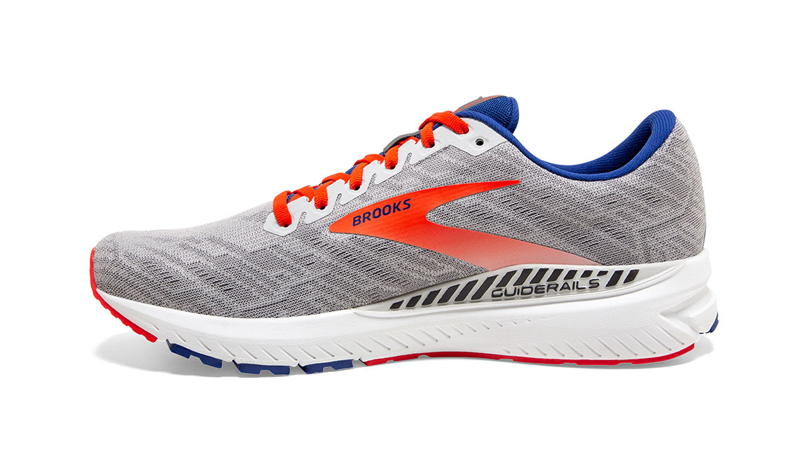 Men's Brooks Ravenna 11 Running Shoe - Color: Grey/Cherry (Regular Width) - Size: 9, Grey/Red, large, image 2